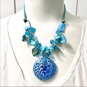 Statement Necklace   On the Aegean Sea